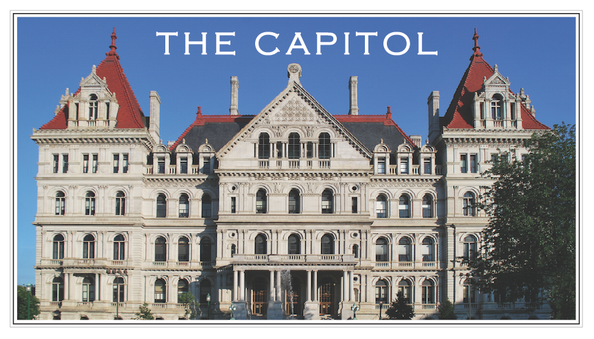 THE CAPITOL West View – Albany, NY (Color)