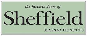 the historic doors of Sheffield, MA