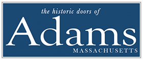 the historic doors of Adams, MA
