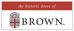 the historic doors of Brown University