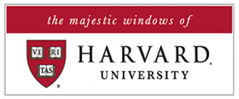 the majestic windows of Harvard University