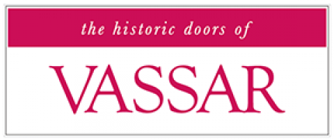 the historic doors of Vassar College