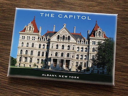 Magnet – THE CAPITOL West View – Albany, NY (HORIZONTAL) – 3