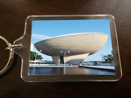Acrylic Keychain – The Egg (Empire State Plaza)  – Albany, NY – 2.375