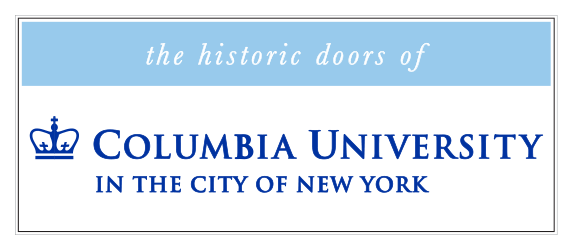 the historic doors of Columbia University