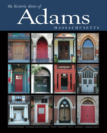 "18"" x 24"" Poster Print - Historic Adams, MA Doors (VERTICAL)"