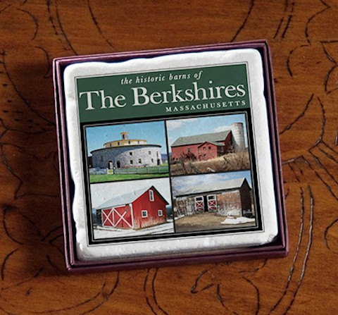 "2"" New England Barns Marble Magnet"