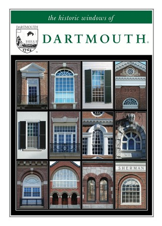 "5"" x 7"" Greeting Card - Dartmouth Majestic Windows (VERTICAL)"