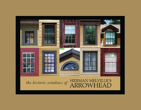 "5"" x 7"" Hand-Signed Print in 8"" x 10"" Double-Matte Herman Melville's ARROWHEAD Historic Windows (HORIZONTAL)"