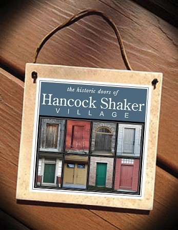 "6"" Hancock Shaker Village Doors Hanging Ceramic Tile Wall Plaque"