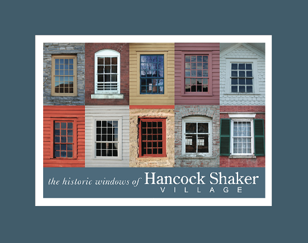 "5"" x 7"" Hand-Signed Print in 8"" x 10"" Double-Matte Hancock Shaker Village Windows (HORIZONTAL)"