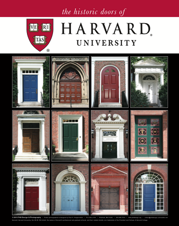 "16"" x 20"" Poster Print - Historic Harvard Doors  (VERTICAL)"