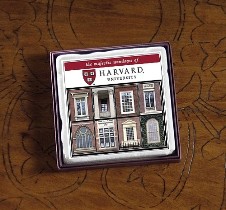"2"" Harvard Majestic Windows Marble Magnet"