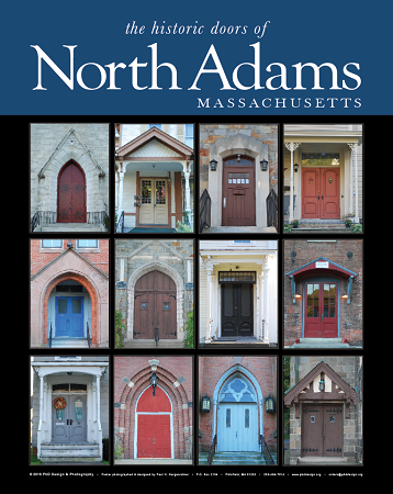 "18"" x 24"" Poster Print - Historic North Adams, MA Doors (VERTICAL)"