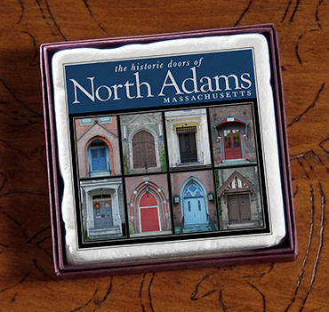 "2"" North Adams, MA Doors Marble Magnet"