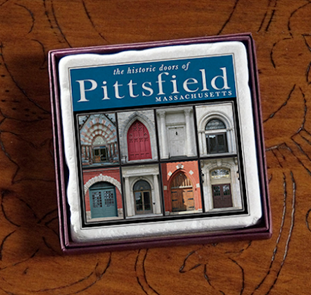 "2"" Pittsfield, MA Doors Marble Magnet"