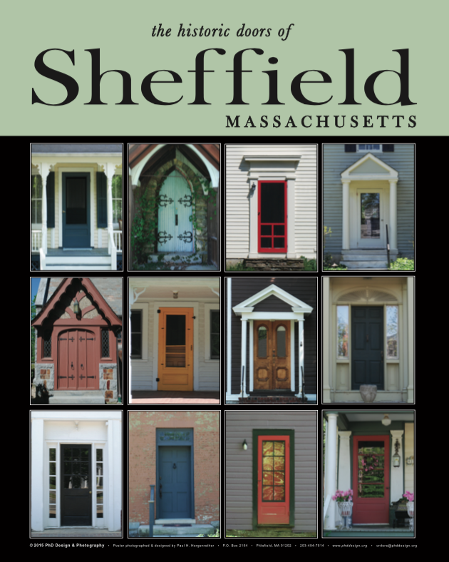 "16"" x 20"" Poster Print - Historic Sheffield, MA Doors (VERTICAL)"