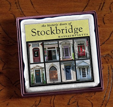 "2"" Stockbridge, MA Doors Marble Magnet"