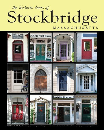 "18"" x 24"" Poster Print - Historic Stockbridge, MA Doors (VERTICAL)"