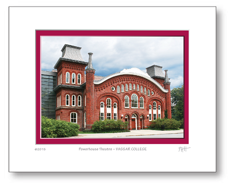 "5"" x 7"" Hand-Signed Print in 8"" x 10"" Double-Matte Vassar Beautiful Architecture (HORIZONTAL) - Powerhouse Theatre"