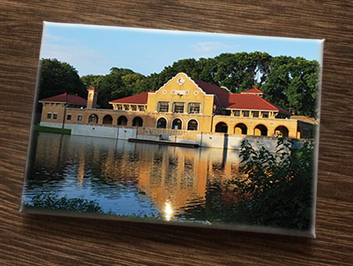 "Magnet – The lakehouse of Washington Park – Albany, NY (HORIZONTAL) – 3"" wide x 2"" high"