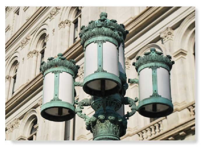 "16"" x 20"" Color Poster Print – the lanterns of THE CAPITOL – Albany, NY (HORIZONTAL)"