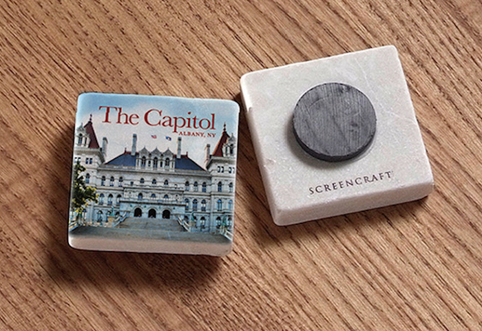 "2"" Marble Magnet – THE CAPITOL East View – Albany, NY"
