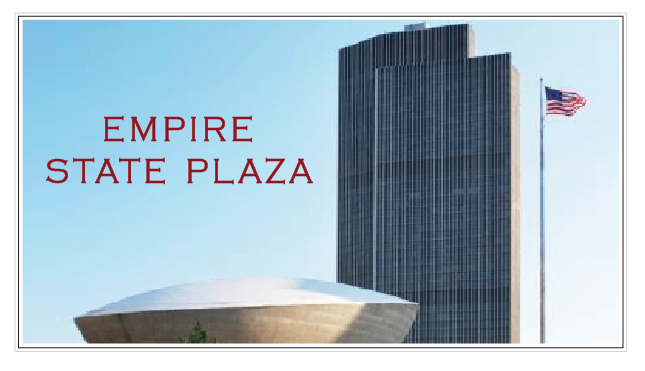 Empire State Plaza with Flag – Albany, NY