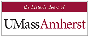 the historic doors of UMASS Amherst