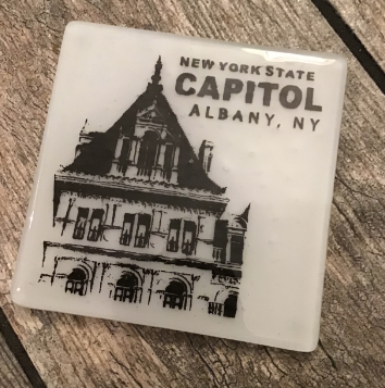 NYS CAPITOL TOWER – Black on White