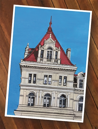 NYS Capitol Tower Painting (13