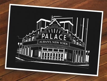 PALACE THEATRE B&W Lineart  (13