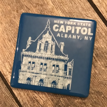 NYS CAPITOL TOWER – White on Royal Blue