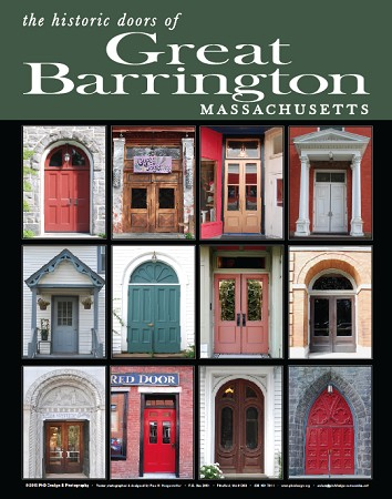 "16"" x 20"" Poster Print - Historic Great Barrington, MA Doors (VERTICAL)"