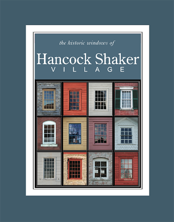 5' x 7' Hand-Signed Print in 8' x 10' Double-Matte Hancock Shaker Village Windows (VERTICAL)