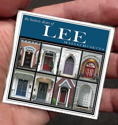"3"" Lee, MA Doors Thin Refrigerator Magnet"