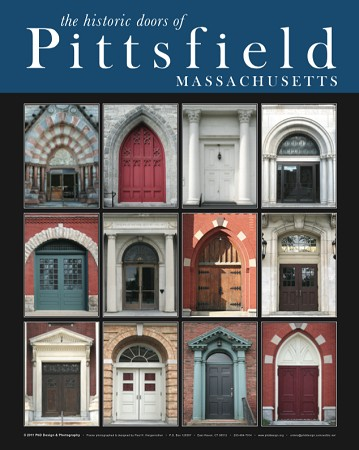 "18"" x 24"" Poster Print - Historic Pittsfield, MA Doors (VERTICAL)"