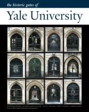 "16"" x 20"" Poster Print - Historic Yale Gates (VERTICAL)"